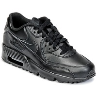 Chaussures Air max tnEnfant Baskets basses Nike AIR MAX 90 LEATHER GRADE SCHOOL Noir