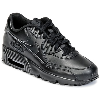 Chaussures Garçon Baskets basses Nike AIR MAX 90 LEATHER GRADE SCHOOL Noir