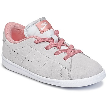 Chaussures Air max tnFille Baskets basses Nike TENNIS CLASSIC PREMIUM TODDLER Gris / Rose
