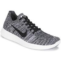 Chaussures Air max tnFemme Running / trail Nike FREE RUN FLYKNIT W Blanc / Noir