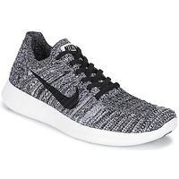 Chaussures Femme Running / trail Nike FREE RUN FLYKNIT W Blanc / Noir