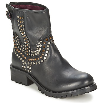 Chaussures Femme Boots Ikks SEATTLE-PREMIUM Noir