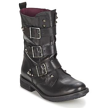 Chaussures Femme Boots Ikks RANGER-COLLECTOR-BOUCLE Noir