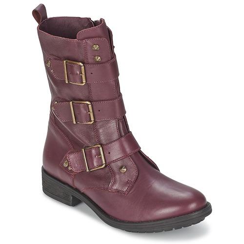 Chaussures Femme Boots Ikks RANGER-COLLECTOR-BOUCLE Bordeaux