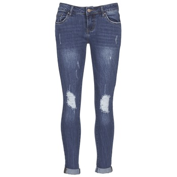Vêtements Femme Jeans slim Yurban FOUNOLE Bleu medium