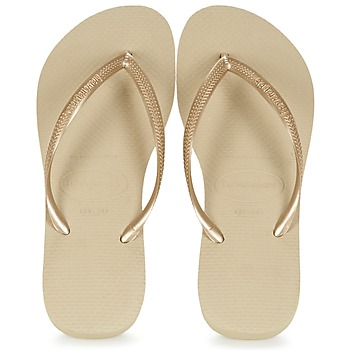 Chaussures Femme Tongs Havaianas SLIM Or