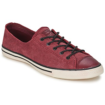 Chaussures Femme Baskets basses Converse Chuck Taylor All Star FANCY LEATHER OX Bordeaux