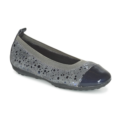Chaussures Fille Ballerines / babies Geox JR PIUMA BALLERINE Gris Foncé