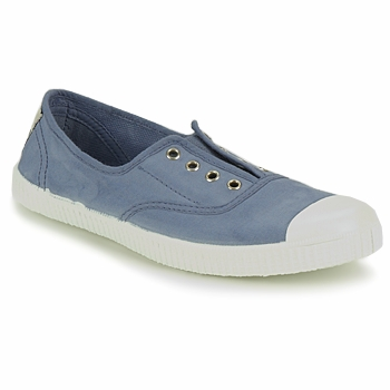 Chaussures Baskets basses Victoria INGLESA ELASTICO TINTADA Bleu