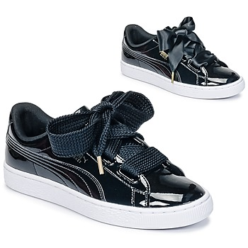 Chaussures Air max tnFemme Baskets basses Puma BASKET HEART PATENT WN'S Noir