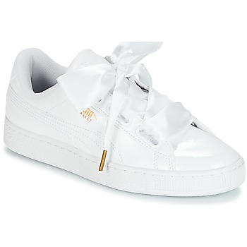 Chaussures Air max tnFemme Baskets basses Puma BASKET HEART PATENT WN'S Blanc
