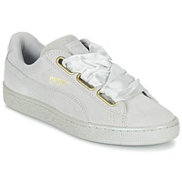 Chaussures Femme Baskets basses Puma BASKET HEART SATIN WN'S Gris