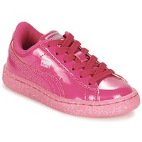 Chaussures Air max tnFille Baskets basses Puma BASKET PATENT ICED GLITTER PS Rose