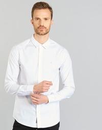 Vêtements Homme Chemises manches longues Calvin Klein Jeans WILBERT Blanc