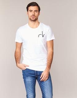 Vêtements Homme T-shirts manches courtes Calvin Klein Jeans TYPE CN Blanc
