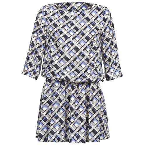 Vêtements Femme Robes courtes Manoush MOSAIQUE Gris / Noir / Parme
