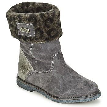 Chaussures Fille Boots Le Temps des Cerises JUNIOR EVA Gris