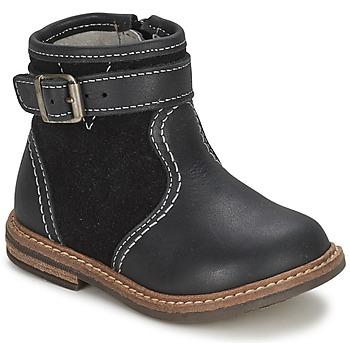 Chaussures Garçon Boots Citrouille et Compagnie LOOPI Noir