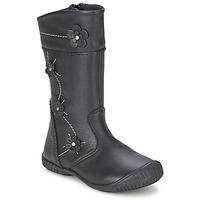 Chaussures Fille Bottes ville Citrouille et Compagnie AMATIS Noir