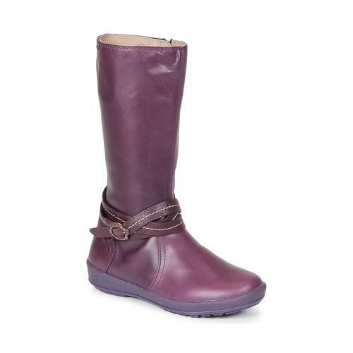 Chaussures Fille Bottes ville Garvalin TARDA Mauve