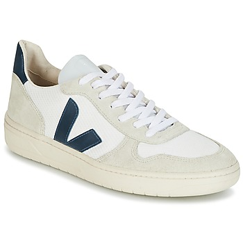 Chaussures Baskets basses Veja V-10 Blanc / Bleu