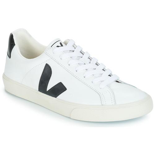 Chaussures Baskets basses Veja ESPLAR LOW LOGO Blanc / Noir