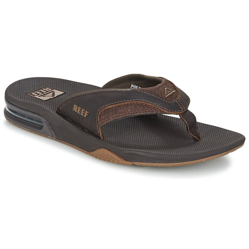 Chaussures Homme Tongs Reef LEATHER FANNING Marron