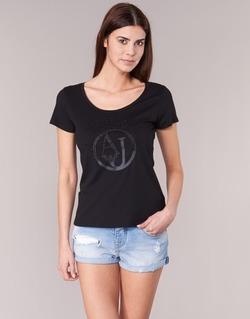 Vêtements Femme T-shirts manches courtes Armani jeans LASSERO Noir