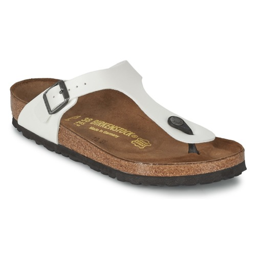 Birkenstock Gizeh Blanc - Chaussures Tongs Homme