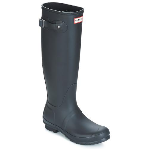 Chaussures Femme Bottes de pluie Hunter ORIGINAL TALL Noir