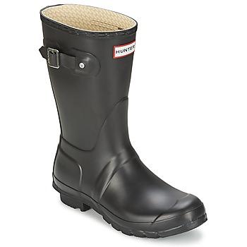 Chaussures Femme Bottes de pluie Hunter ORIGINAL SHORT Noir