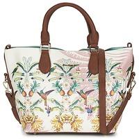 Sacs Femme Sacs porté main Desigual FLORIDA TROPICALICIOUS Ecru / Camel / Multicolore