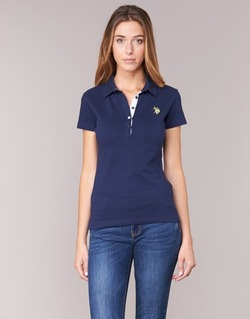 Vêtements Femme Polos manches courtes U.S Polo Assn. LOGO Marine