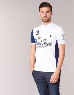 Vêtements Homme Polos manches courtes U.S Polo Assn. SAINT TROPEZ POLO Blanc