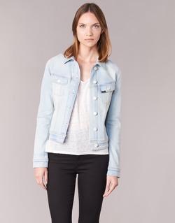 Vêtements Femme Vestes en jean Lee SLIM RIDER Bleu Clair