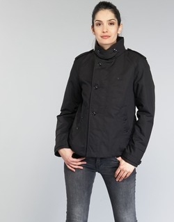 Vêtements Femme Trenchs G-Star Raw FLORENCE CROPPED Noir