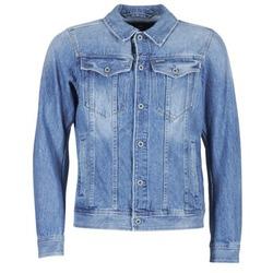Vêtements Homme Vestes en jean G-Star Raw 3301 DECONSTRUCTED 3D SLIM Bleu