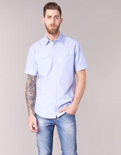 Vêtements Homme Chemises manches courtes G-Star Raw LANDOH Bleu