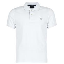 Vêtements Homme Polos manches courtes Gant CONTRAST COLLAR PIQUE Blanc