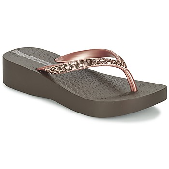 Chaussures Femme Tongs Ipanema MESH PLAT II Marron / Rose