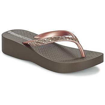 Chaussures Femme Tongs Ipanema MESH PLAT II Marron / Rose