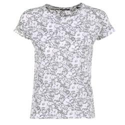 Vêtements Femme T-shirts manches courtes Marc O'Polo BRIDELOPAC Gris / Blanc