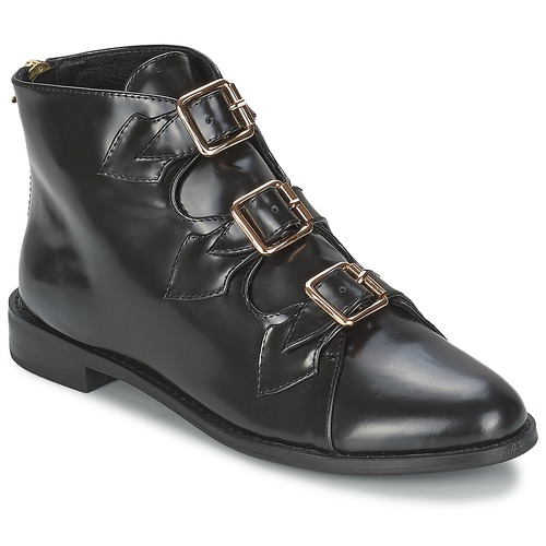 Chaussures Femme Bottines F-Troupe Triple Buckle Boot BLACK