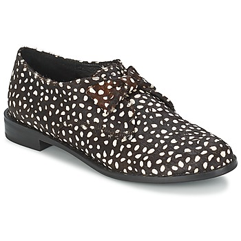 Chaussures Femme Derbies F-Troupe Bow Polka BLACK/WHITE