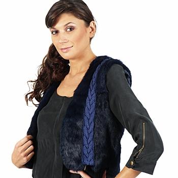 Vêtements Femme Vestes / Blazers April First GILET SANS MANCHE Bleu