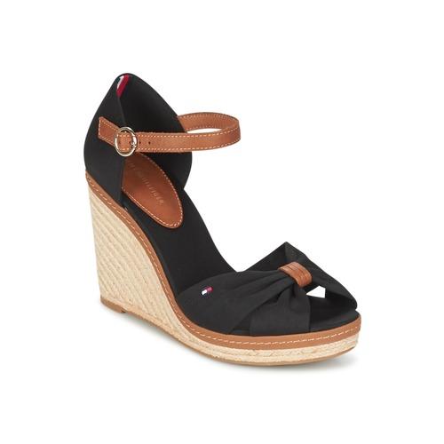 Chaussures Femme Sandales et Nu-pieds Tommy Hilfiger ELENA 56D Noir / Marron