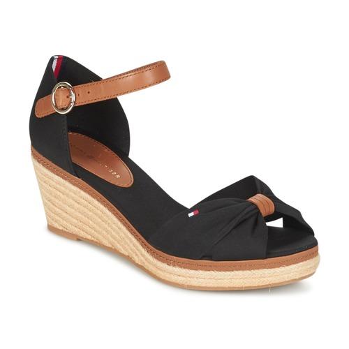 Chaussures Femme Sandales et Nu-pieds Tommy Hilfiger ELBA 40D Noir / Marron