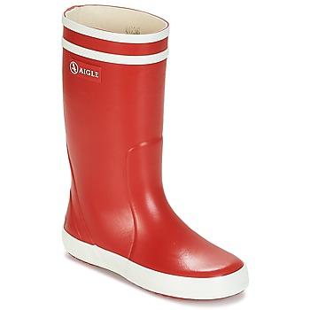 Chaussures Enfant Bottes de pluie Aigle LOLLY POP Rouge / Blanc
