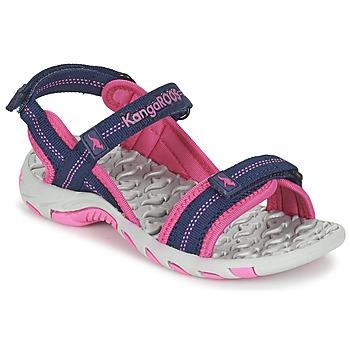 Chaussures Fille Sandales sport Kangaroos MUSER Marine / Rose