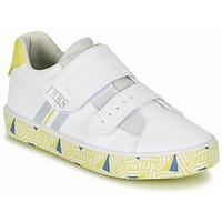 Chaussures Garçon Baskets basses Ikks JOE Blanc / Jaune